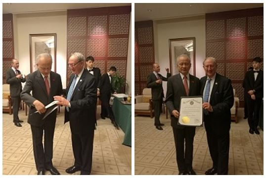 Secretary Wobensmith met with Chinese Ambassador, Cui Tiankai. Secretary Wobensmith presented a proclamation signed by