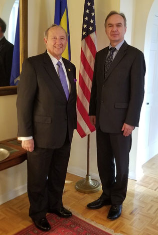 Maryland Secretary of State John Wobensmith and Ambassador Deputy Chief of Mission Milenko Misic