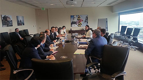 ​Meeting with Turkish Embassy and Maryland officials.