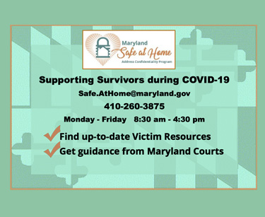 Supporting Survivors during COVID-19 - Maryland Safe at Home